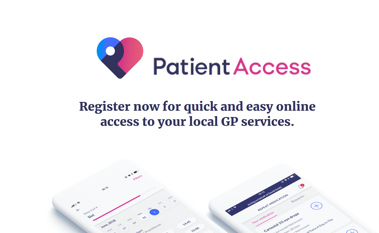 Patient Access. Register now for quick and easy online access